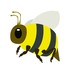 Bee emoji vector