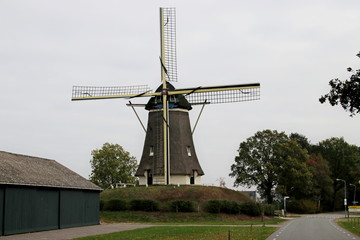 Windmill named de Duif in the city of Nunspeet in Gelderland, the Netherlands