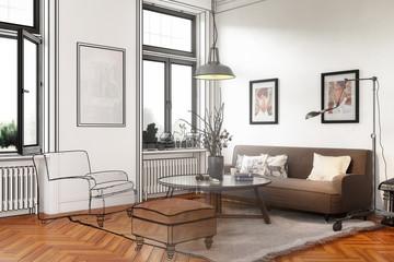 Retro Style Apartment (conception)