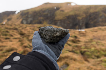 Vulkangestein (Effusivgestein) auf Island