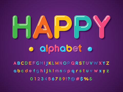colorful stylized alphabet design