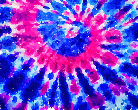 tie dye style watercolor vector abstract background