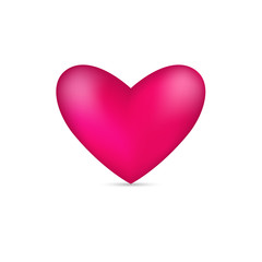 3D realistick Pink heart icon vector illustration.