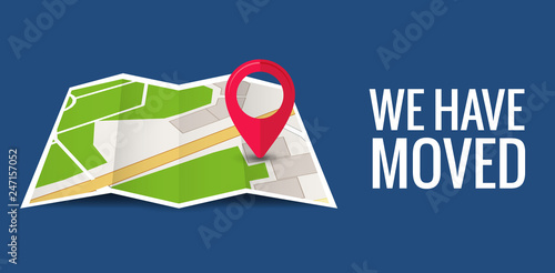 We have moved new office icon location  Address move change location