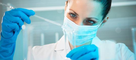 Female scientist working in laboratory