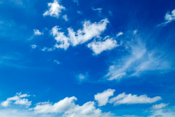 Blue sky and white clouds environment nature background