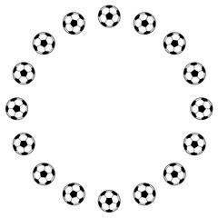 サッカーボールのフレーム