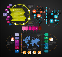 Business infographic elements data visualization vector design.