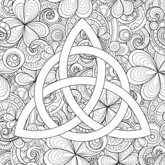 Celtic Trinity Knot Symbol, Triquetra Sign
