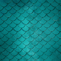 Turquoise Mermaid Scale Texture