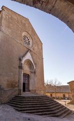 The Parish Church of Saints Leonardo and Cristoforo in Monticchiello, Siena, Tuscany, Italy