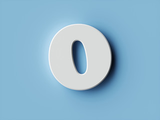 White paper digit alphabet character 0 zero font