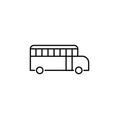 school bus, vehicle icon. Element of education illustration. Signs and symbols can be used for web, logo, mobile app, UI, UX