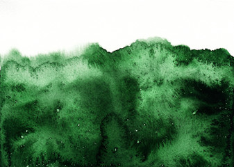 Green watercolor background, abstract watercolor texture