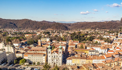 Top view of the city of Gorizia, Friuli Venezia Giulia - Italy
