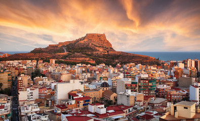 Alicante - Spain at sunset