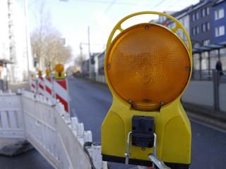 Baustellen Signallampe gelb