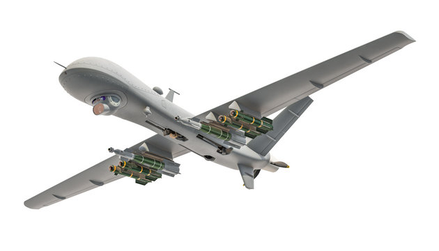 Military Drone. 3D rendering