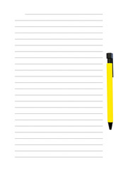 Spacing yellow pen to write messages as needed.