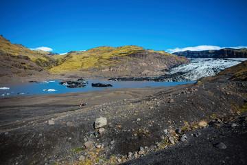 Solheimajokull Glacier in southern Iceland