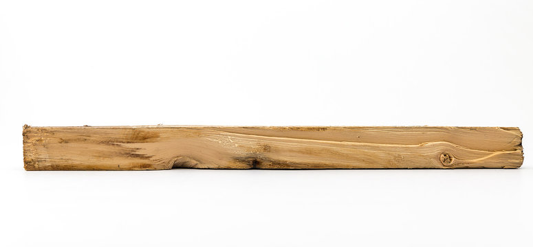 Timber is cut isolated on white