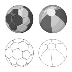 Vector illustration of sport and ball icon. Collection of sport and athletic stock symbol for web.