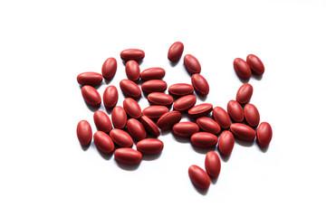 Vitamin on white background