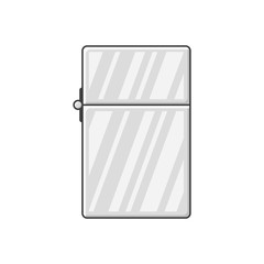 Icon closed lighter. Vector illustration on white background
