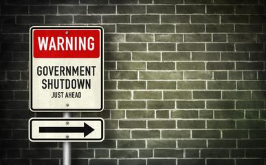 Warning - Government Shutdown