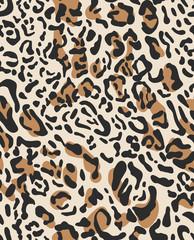 Leopard print. Vector seamless pattern.