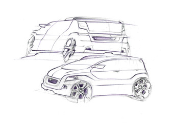 This is hand sketch with purple colour. It is dinamic painted created with luxury curves. It is familiem car suitable for quiet ride.