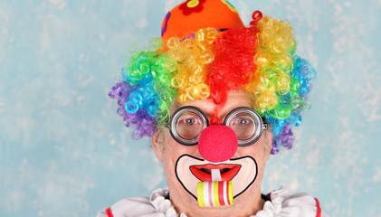 lustig lachender Clown