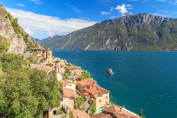 View over Limone to the Lago di Garda