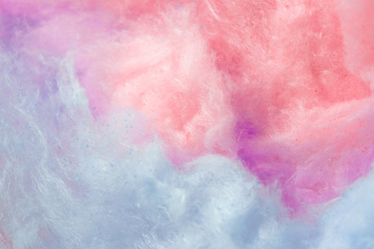 trend color of the year, coral and purple background, cotton candy
