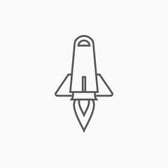 rocket icon, missile vector