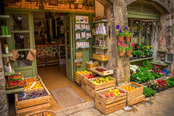 Local vegetable store, Valldemossa, Mallorca Spain.
