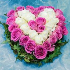 Rosen, Herz, Blumenherz, Geschenk