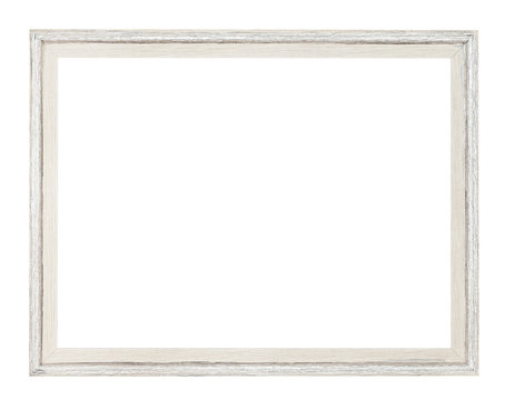 modern simple white painted wooden picture frame