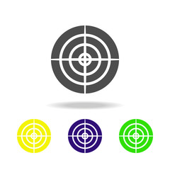 weapon, aim colored icons. Element of military illustration. Signs and symbols can be used for web, logo, mobile app, UI, UX