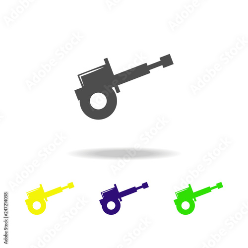 weapon, cannon colored icons  Element of military