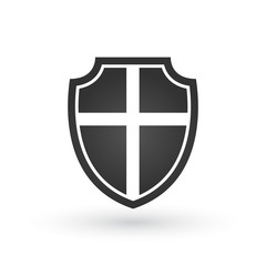 Vector crusaders shield, Vector illustration isolated on white background.