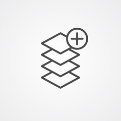 Layers vector icon sign symbol