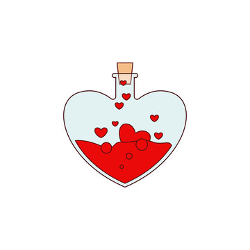 Heart, potion, love, valentine's day icon. Element of color Valentine's Day. Premium quality graphic design icon. Signs and symbols collection icon for websites, web design