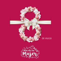 Spanish International Women's Day Vector - Happy Women's Day. 8 march international women's day greeting card.