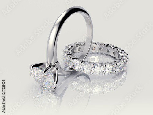 Interwoven Solitaire Diamond Engagement Ring Eternity