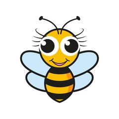 Bee symbol. Vector illustration