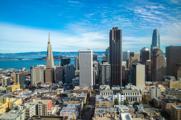 Wall Mural - San Francisco City Downtown general view, California