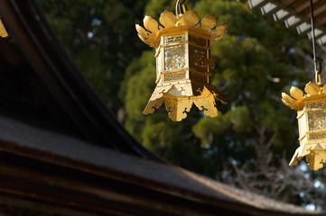 Golden Latern at Temple Kojasan in Japan