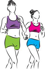women running illustration (2)