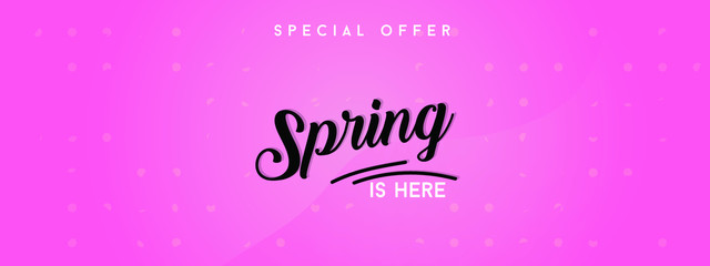 Spring sale background with beautiful colorful flower. Vector illustration template.banners.Wallpaper.flyers, invitation, posters, brochure, voucher discount